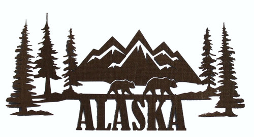 Alaska Scenic 4 x 8 Laser Cut Scrapbook Embellishment by SSC Laser Designs