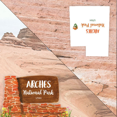 National Park Collection Arches National Park 12 x 12 Double-Sided Scrapbook Paper by Scrapbook Customs