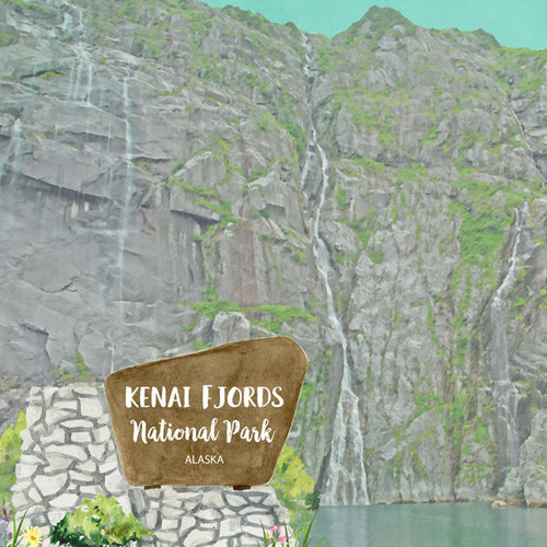 National Park Collection Kenai Fjords National Park 12 x 12 Double-Sided Scrapbook Paper by Scrapbook Customs