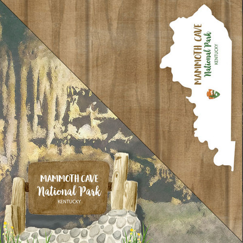 National Park Collection Mammoth Cave National Park 12 x 12 Double-Sided Scrapbook Paper by Scrapbook Customs
