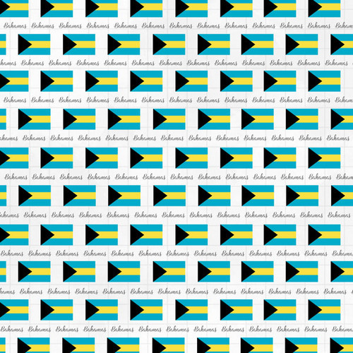 Travel Adventure Collection Bahamas Border 12 x 12 Double-Sided Scrapbook Paper by Scrapbook Customs