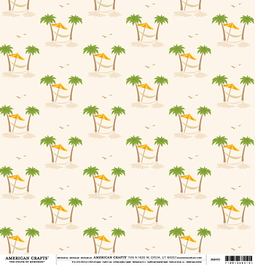 Color of Memories Collection Paradise 12 x 12 Double-Sided Scrapbook Paper by American Crafts