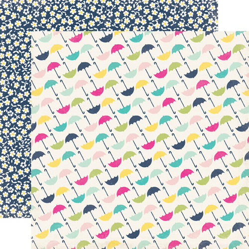 Splendid Sunshine Collection Umbrella 12 x 12 Double-Sided Scrapbook Paper by Echo Park Paper