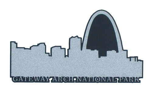 Gateway Arch National Park 2 x 5.5 Laser Cut Scrapbook Embellishment by SSC Laser Designs