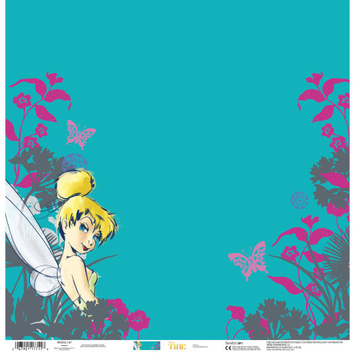 Disney Tinkerbell Collection Tink 12 x 12 Scrapbook Paper by Sandylion