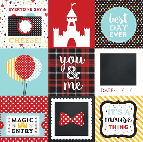 Magical Adventure Collection 4 x 4 Journaling Cards 12 x 12 Double-Sided Scrapbook Paper by Echo Park Paper