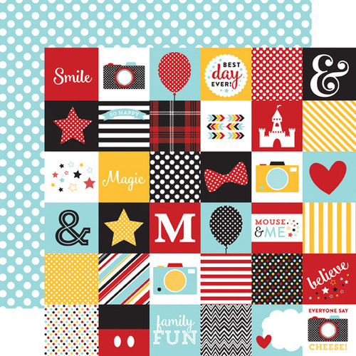 Magical Adventure Collection 2 x 2 Journaling Cards 12 x 12 Double-Sided Scrapbook Paper by Echo Park Paper