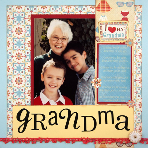 Classic Grandma Collection Grandma's Closet 12 x 12 Scrapbook Paper by Karen Foster Design