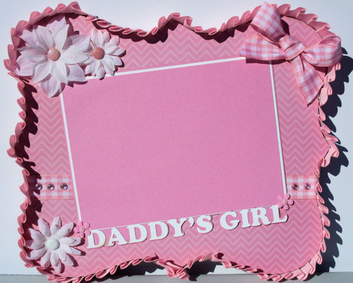 Daddy's Girl Pink 9 x 11 Photo Frame for 5 x 7 Photo by SSC Designs