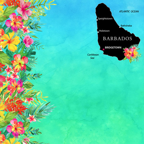 Getaway Collection Barbados 12 x 12 Double-Sided Scrapbook Paper by Scrapbook Customs