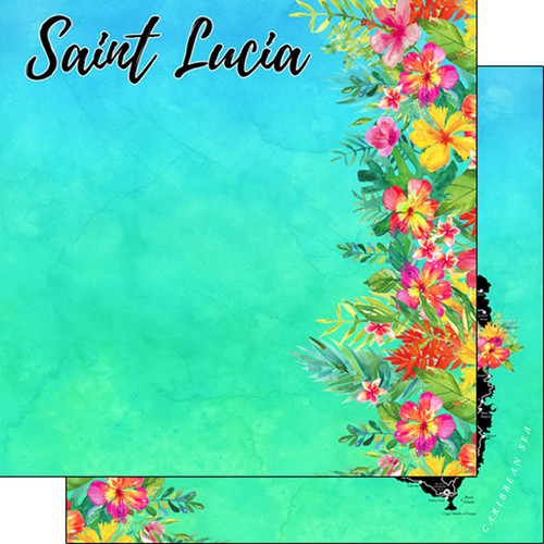 Getaway Collection St. Lucia 12 x 12 Double-Sided Scrapbook Paper by Scrapbook Customs