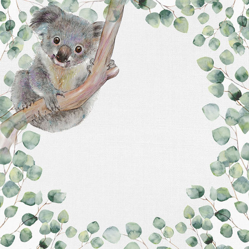 African Safari Collection Koala Bear 12 x 12 Double-Sided Scrapbook Paper by Scrapbook Customs