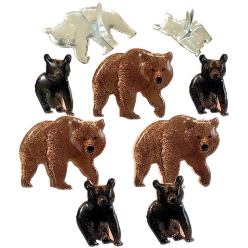 Bear Brads by Eyelet Outlet - Pkg. of 12