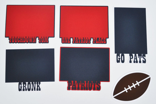 Pride Collection Patriots Embellishment Kit featuring 5 - 4 x 6 Photo Mats and Football  by SSC Laser Designs