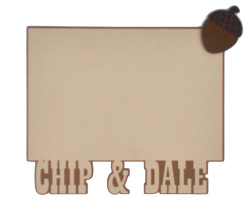 Disneyana Collection Goofy & Chip and Dale Embellished 4 x 6 Photo Mats  by SSC Laser Designs