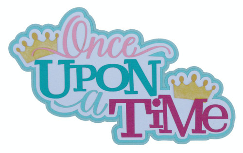 isneyana Collection Once Upon A Time 4 x 8 Fully-Assembled, Glittered Embellished Laser Cut Scrapbook Embellishment by SSC Laser Designs