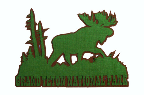 Grand Teton National Park 4 x 7 Title Laser Cut Scrapbook Embellishment by SSC Laser Designs