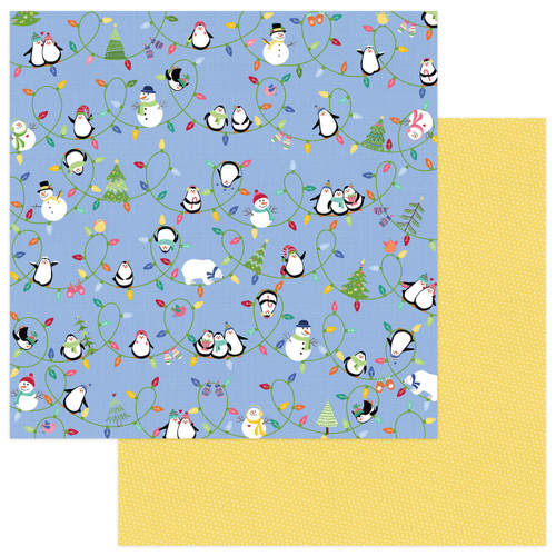 Frosty Friends Collection Snow Day 12 x 12 Double-Sided Scrapbook Paper by Photoplay Paper