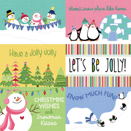 Frosty Friends Collection Snow Much Fun 12 x 12 Double-Sided Scrapbook Paper by Photo Play Paper
