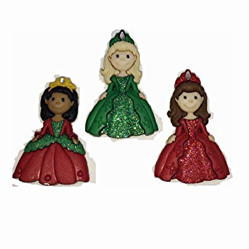 Disney Dress It Up Collection Christmas Princesses Scrapbook Button Embellishments by Jesse James Buttons