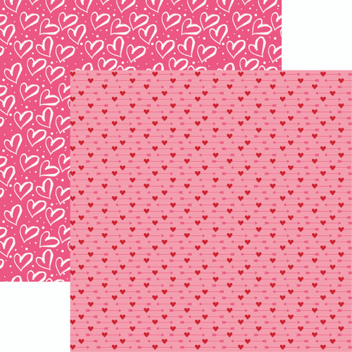 Heart & Soul Collection Graffiti Heart 12 x 12 Double-Sided Scrapbook Paper by Reminisce