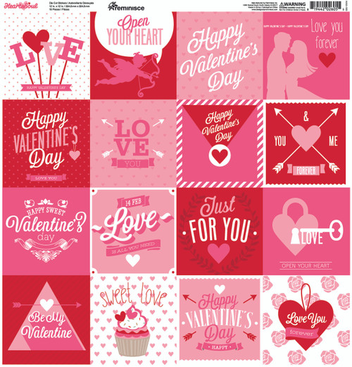 Heart & Soul Collection 12 x 12 Cardstock Sticker Sheet by Reminisce