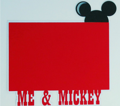 Disneyana Collection Mickey & Minnie Embellished 4 x 6 Photo Mats  by SSC Laser Designs