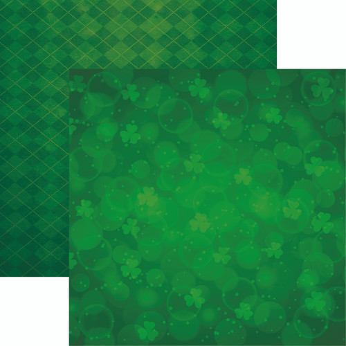 Lucky Charm Collection Lucky Irish Too 12 x 12 Double-Sided Scrapbook Paper by Reminisce