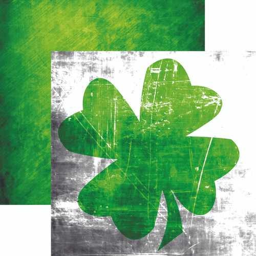 Lucky Charm Collection Lucky Irish 12 x 12 Double-Sided Scrapbook Paper by Reminisce