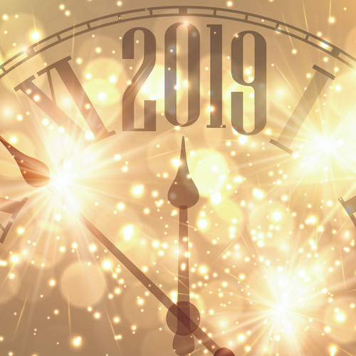 New Year's 2019 Happy 2019 12 x 12 Double-Sided Scrapbook Paper by Reminisce