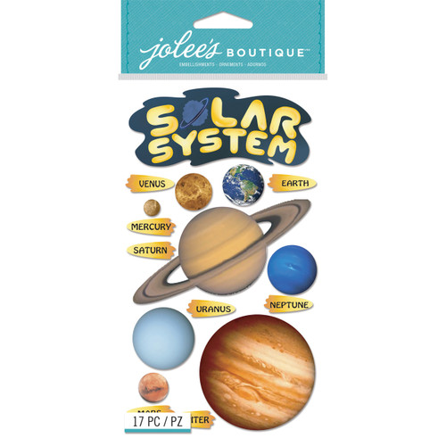Solar System 2 Scrapbook Embellishment by Jolee's Boutique