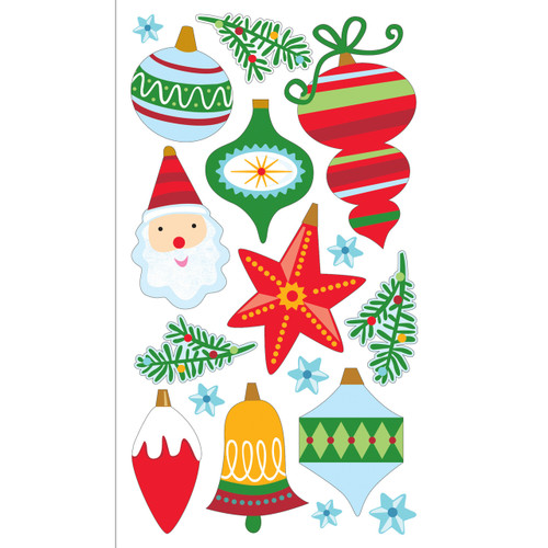 Christmas Ornaments Dimensional Scrapbook Embellishment by Sticko