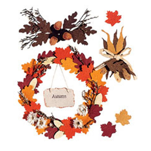 Autumn Wreath Scrapbook Embellishment by Jolee's Boutique