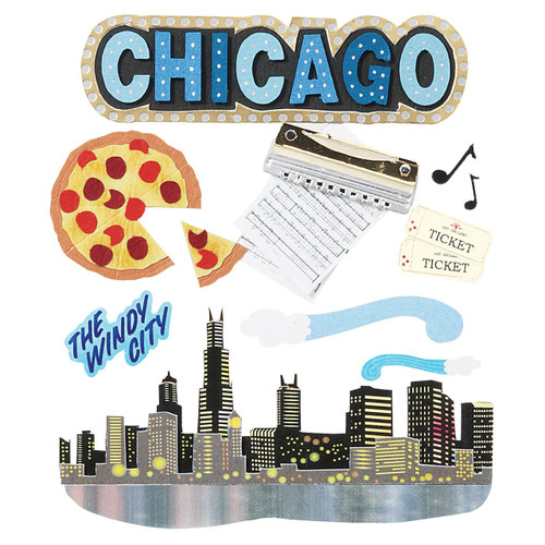 Destination Collection Chicago Scrapbook Embellishment by Jolee's Boutique