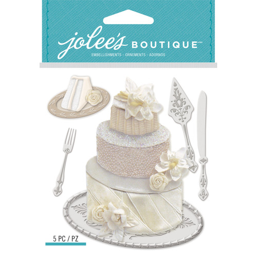 Wedding Cake Scrapbook Embellishment by Jolee's Boutique