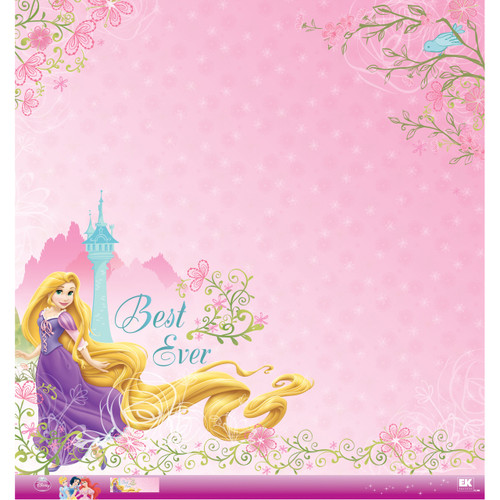 Disney Princess Collection Rapunzel Glitter 12 x 12 Scrapbook Paper by EK Success