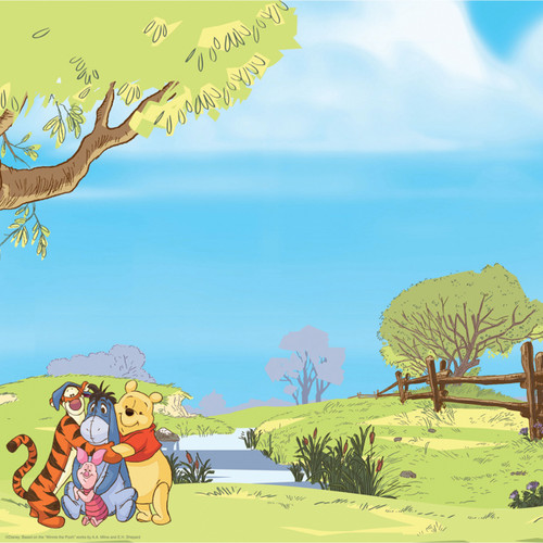 Disney Collection Winnie The Pooh & Friends Outdoors 12 x 12 Double-Sided Scrapbook Paper by EK Success