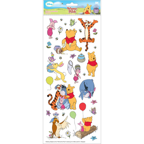 Disney Collection Winnie The Pooh & Friends 6 x 12 Large Flat Sticker Sheet by EK Success