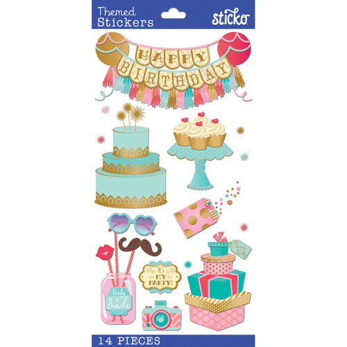 Fancy Pants Birthday Plus Scrapbook Embellishment by Stick