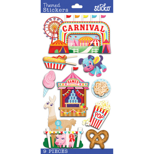 Carnival Plus 4 x 8 Scrapbook Embellishment by Sticko