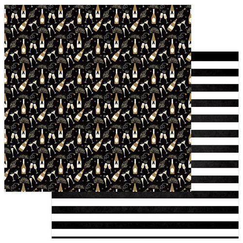 Hello New Year 2 Collection Pop Pour Fizz 12 x 12 Double-Sided Scrapbook Paper by Photo Play Paper