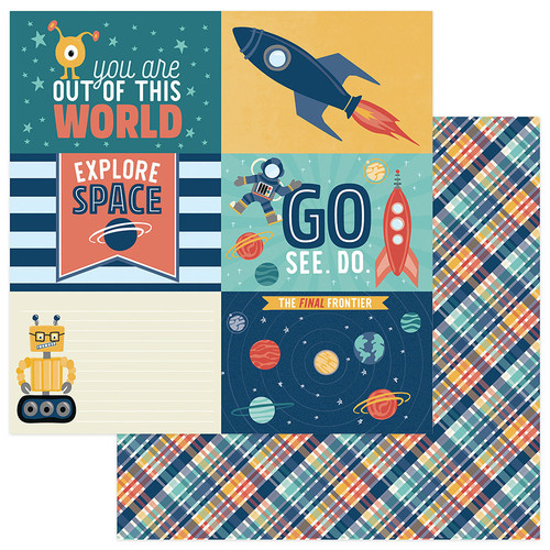 To The Moon and Back Collection Out Of This World 12 x 12 Double-Sided Scrapbook Paper by Photo Play Paper