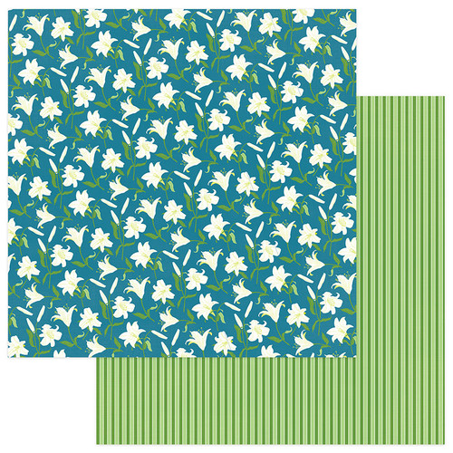Easter Joy Collection Easter Lilies 12 x 12 Double-Sided Scrapbook Paper by Photo Play Paper