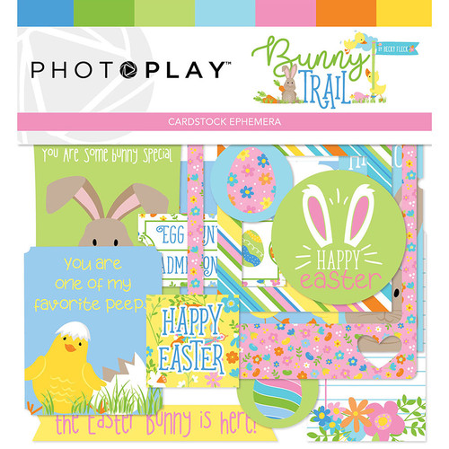 Bunny Trail Collection 5 x 5 Ephemera Die Cuts  by Photo Play Paper