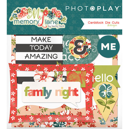 Memory Lane Collection 4 x 4 Ephemera Die Cuts by Photo Play Paper