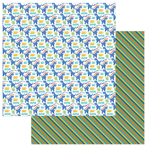 Jurassic Collection T-Rex 12 x 12 Double-Sided Scrapbook Paper by Photo Play Paper