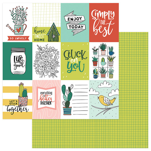 Stuck On You Collection Stuck on You 12 x 12 Double-Sided Scrapbook Paper by Photo Play Paper