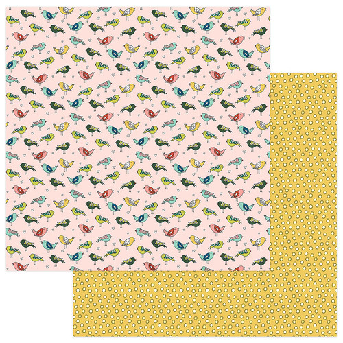 Stuck On You Collection Life is Tweet 12 x 12 Double-Sided Scrapbook Paper by Photo Play Paper