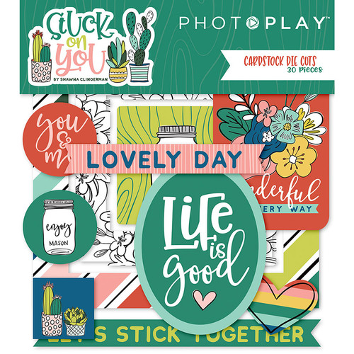 Stuck On You Collection 5 x 5 Ephemera Die Cuts  by Photo Play Paper