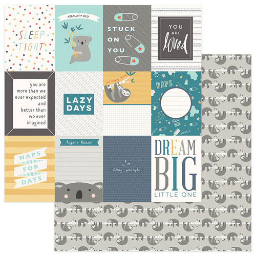 Snuggle Up Collection Boy Dream Big 3x4 Cards 12 x 12 Double-Sided Scrapbook Paper by Photo Play Paper